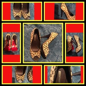 Michael Antonio Calf Hair Leopard Shoes 6.5